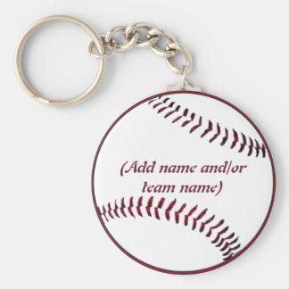 Personalized Baseball Keychain