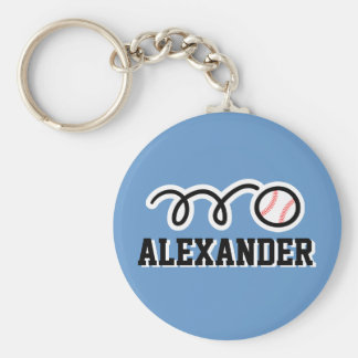 Personalized baseball keychain for kids name