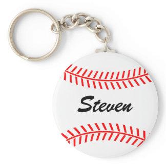 Personalized baseball keychain with custom name