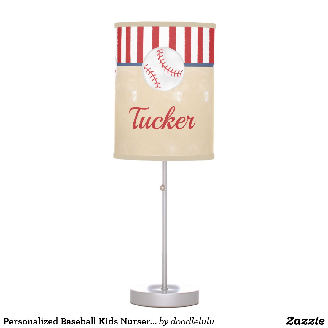 Personalized Baseball Kids Nursery Bedroom Decor Desk Lamp