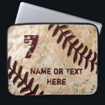"Personalized Baseball Laptop Case, NAME and NUMBER Computer Sleeve<br><div class=""desc"">Personalized Baseball Case customized with your own NAME and Jersey NUMBER, Monogram or simply delete it. Under Personalize it area, to your right, highlight the temporary text and type in your text into the 2 Text Box Templates. New iPhone 6 PLUS and iPhone 6 Cases to match this cool baseball...</div>"