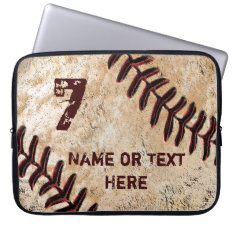 Personalized Baseball Laptop Case, Name And Number Computer Sleeve at Zazzle