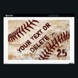 """Personalized Baseball Laptop Skins Many Sizes<br><div class=""""desc"""">Personalized Baseball Laptop Skins in Many Sizes for various computer and device Brands or Generic. Shown is the Generic 17 inch computer skin or choose the other brands and sizes. Cool Vintage Baseball Laptop Protector is ultra thin yet protects from everyday type scratches and scuffs. CALL Rodney or Linda to...</div>"""