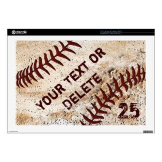 Personalized Baseball Laptop Skins Many Sizes