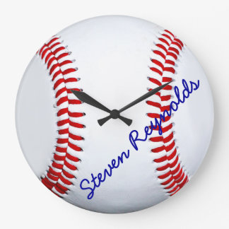 Personalized Baseball Large Wall Clock
