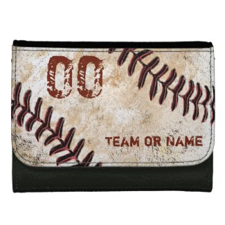 Personalized Baseball Leather Wallet, Faux Leather Leather Wallets