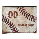 Personalized Baseball Leather Wallet for Men Tri-fold Wallet