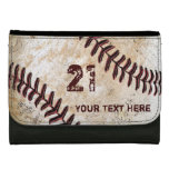 Personalized Baseball Leather Wallets NAME, NUMBER Wallet