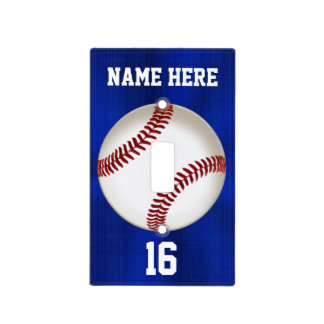 Personalized Baseball Light Switch Cover