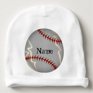 Personalized Baseball Lighting Baby Beanie