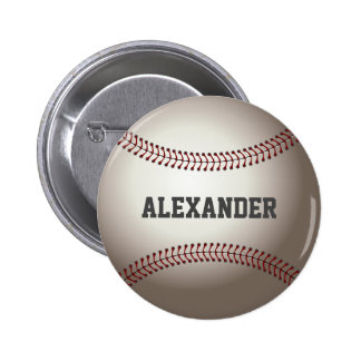 Personalized Baseball Lover Pinback Button