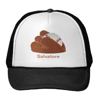 Personalized Baseball Mitt & Ball Trucker Hat