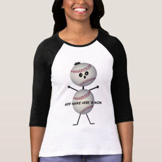Personalized Baseball Mom Cartoon T Shirt