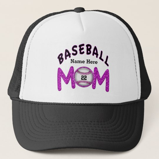 3ea970199a88b Personalized Baseball Mom Hats NUMBER and NAME