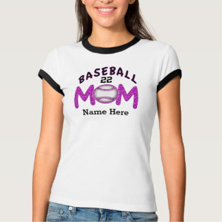 Personalized Baseball Mom Shirts NAME and NUMBER