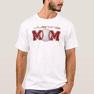 Personalized Baseball Mom T-Shirt