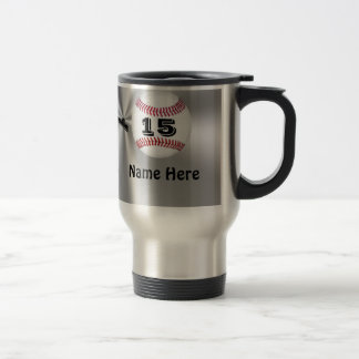 Personalized Baseball Mugs with NAME and NUMBER