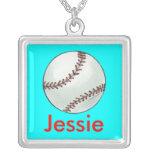 Personalized Baseball Necklace