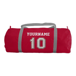 Personalized Baseball Number 10 with Your Name Duffle Bag