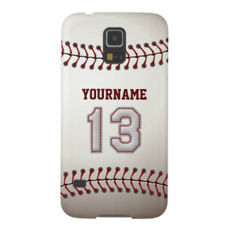 Personalized Baseball Number 13 with Your Name Galaxy S5 Case