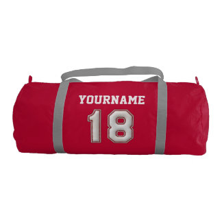 Personalized Baseball Number 18 with Your Name Gym Bag