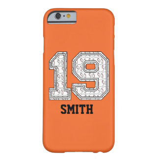 Personalized Baseball Number 19 Barely There iPhone 6 Case