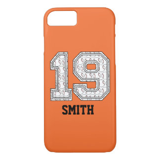 Personalized Baseball Number 19 iPhone 7 Case