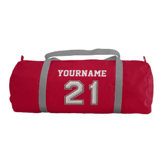 Personalized Baseball Number 21 with Your Name Gym Bag