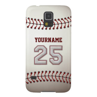 Personalized Baseball Number 25 with Your Name Galaxy S5 Case