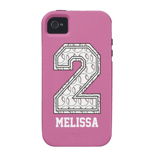 Personalized Baseball Number 2 iPhone 4 Cover
