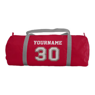 Personalized Baseball Number 30 with Your Name Duffle Bag