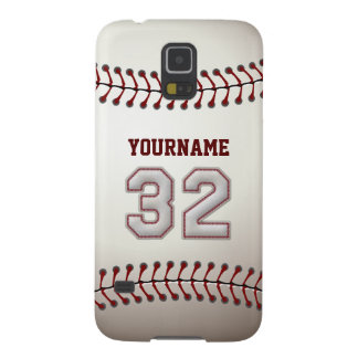 Personalized Baseball Number 32 with Your Name Galaxy S5 Case