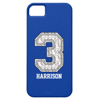 Personalized Baseball Number 3 iPhone 5 Case