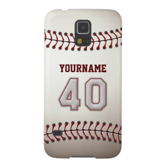 Personalized Baseball Number 40 with Your Name Galaxy S5 Case