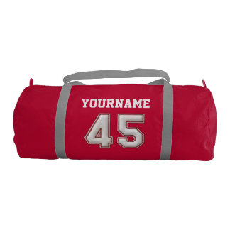 Personalized Baseball Number 45 with Your Name Gym Bag