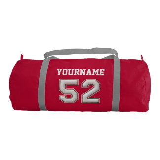 Personalized Baseball Number 52 with Your Name Gym Bag