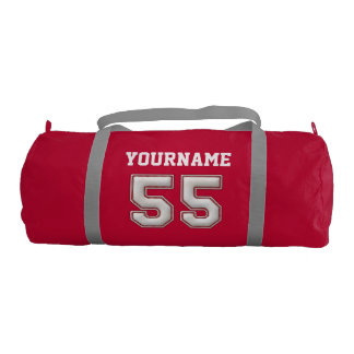 Personalized Baseball Number 55 with Your Name Gym Bag