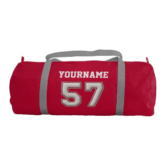 Personalized Baseball Number 57 with Your Name Duffle Bag