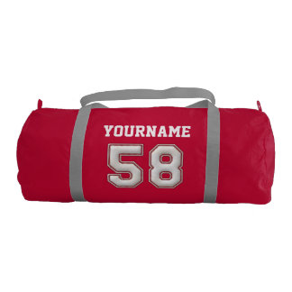Personalized Baseball Number 58 with Your Name Gym Bag