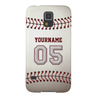 Personalized Baseball Number 5 with Your Name Case For Galaxy S5