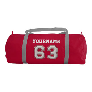 Personalized Baseball Number 63 with Your Name Gym Bag