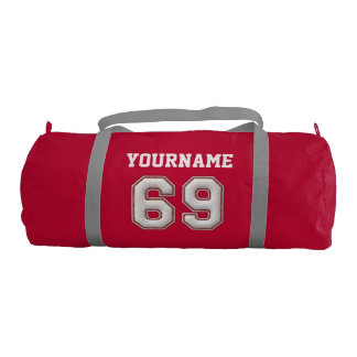 Personalized Baseball Number 69 with Your Name Gym Bag