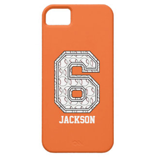 Personalized Baseball Number 6 iPhone 5 Cover