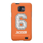 Personalized Baseball Number 6 Samsung Galaxy Case