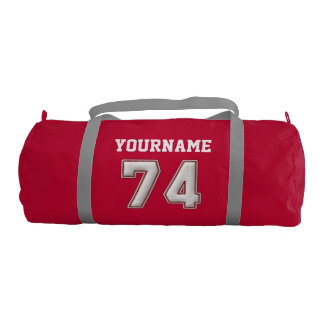 Personalized Baseball Number 74 with Your Name Gym Bag