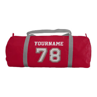 Personalized Baseball Number 78 with Your Name Gym Bag
