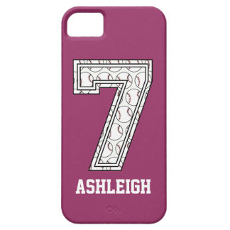 Personalized Baseball Number 7 iPhone 5 Cases
