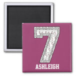 Personalized Baseball Number 7 Magnets