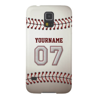 Personalized Baseball Number 7 with Your Name Galaxy S5 Cover