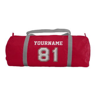 Personalized Baseball Number 81 with Your Name Gym Bag